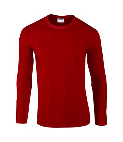Gildan - T-shirt à manches longues - Hommes (Rouge) - UTBC488