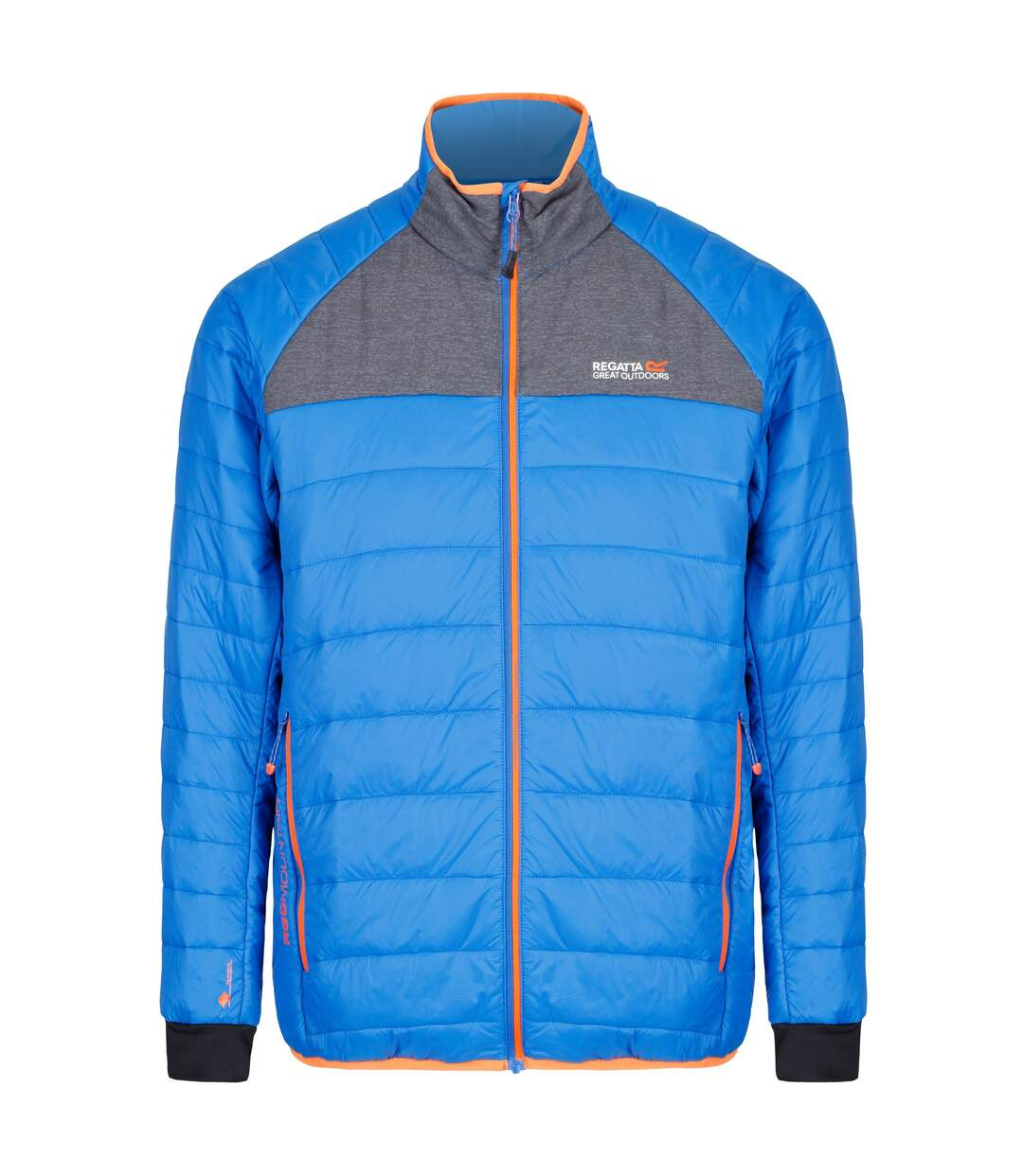 Regatta Mens Halton II Full Zip Jacket (Oxford Blue/Seal Grey) - UTRG3671