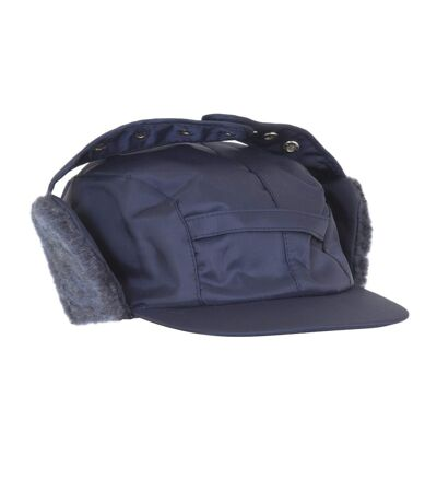 Mens Water Proof Thermal Trapper Hat With Ear Flaps (Navy) - UTHA368