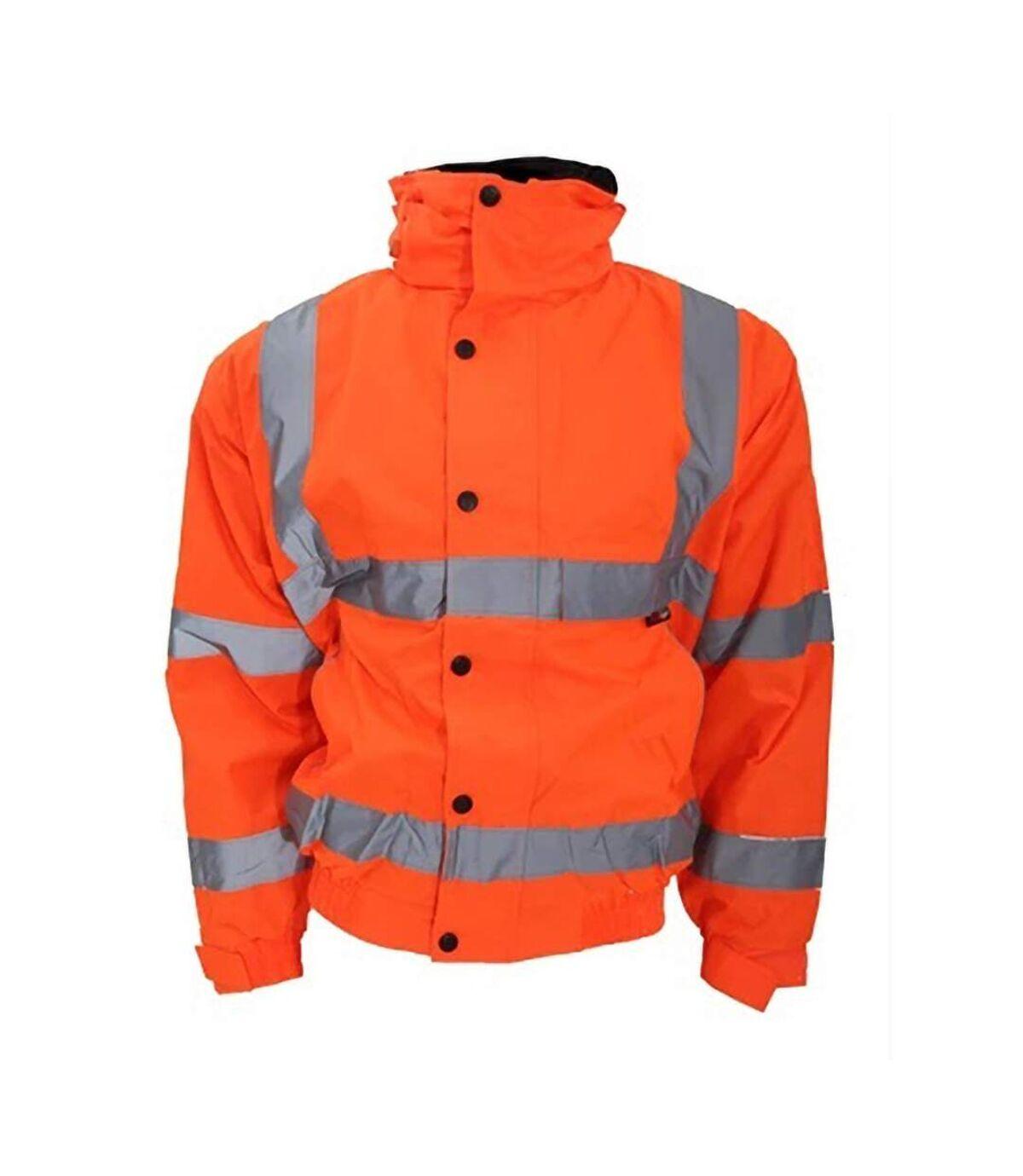 Warrior Mens Tulsa Hi-Vis Bomber Jacket (Fluorescent Orange) - UTPC3501