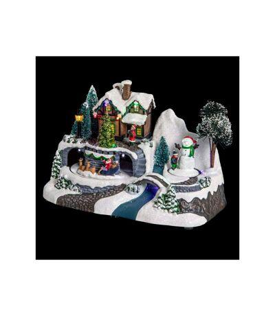 Village de Noël Maison Square 23cm Multicolore