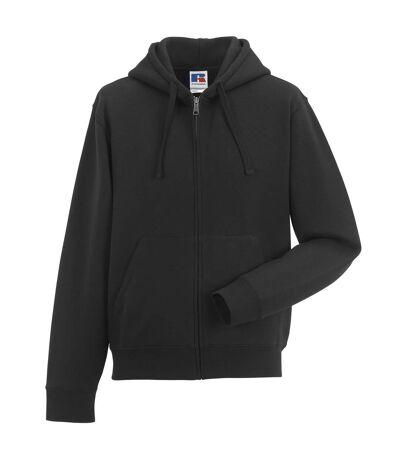 Russell Mens Authentic Full Zip Hooded Sweatshirt / Hoodie (Black) - UTBC1499