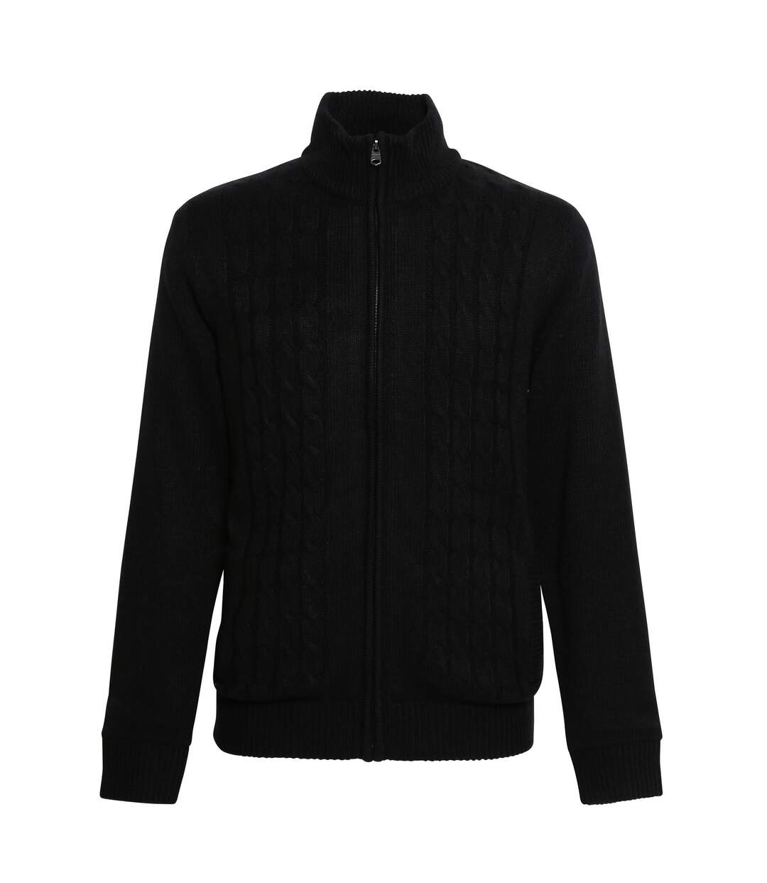 Affordable Fashion Mens Bedros Cable Knit Jacket (Black) - UTRW5275