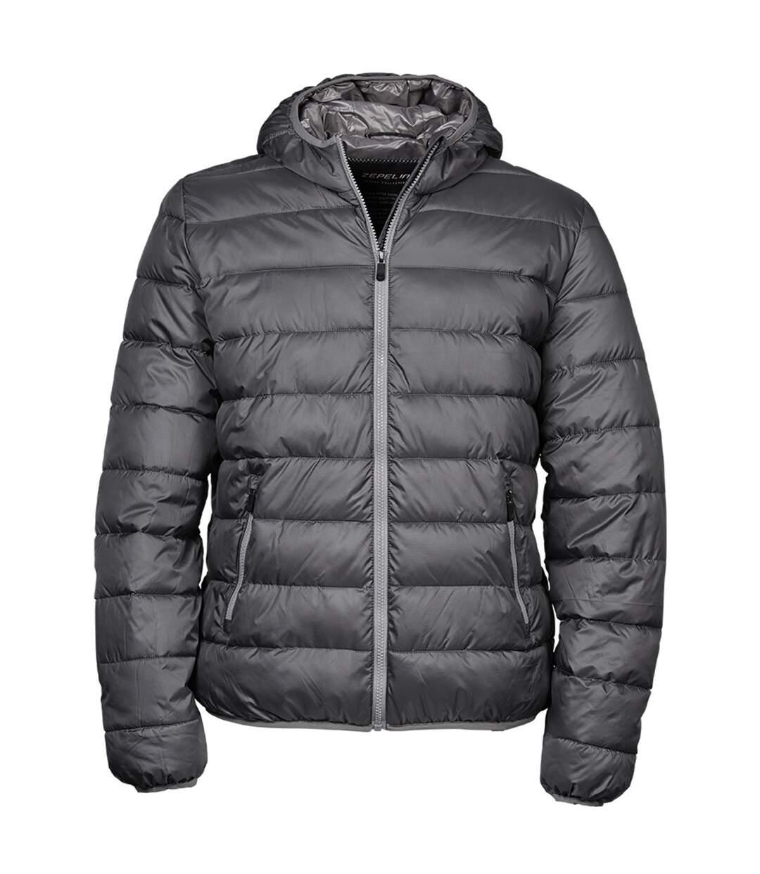 Tee Jays Mens Hooded Padded Zepelin Jacket (Space Grey/Grey) - UTBC3338