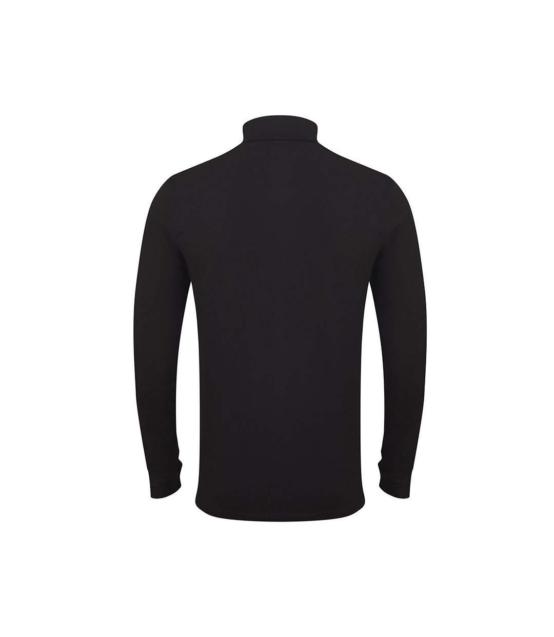 Skinni Fit Mens Feel Good Roll Neck Long Sleeve Top (Black) - UTRW5500