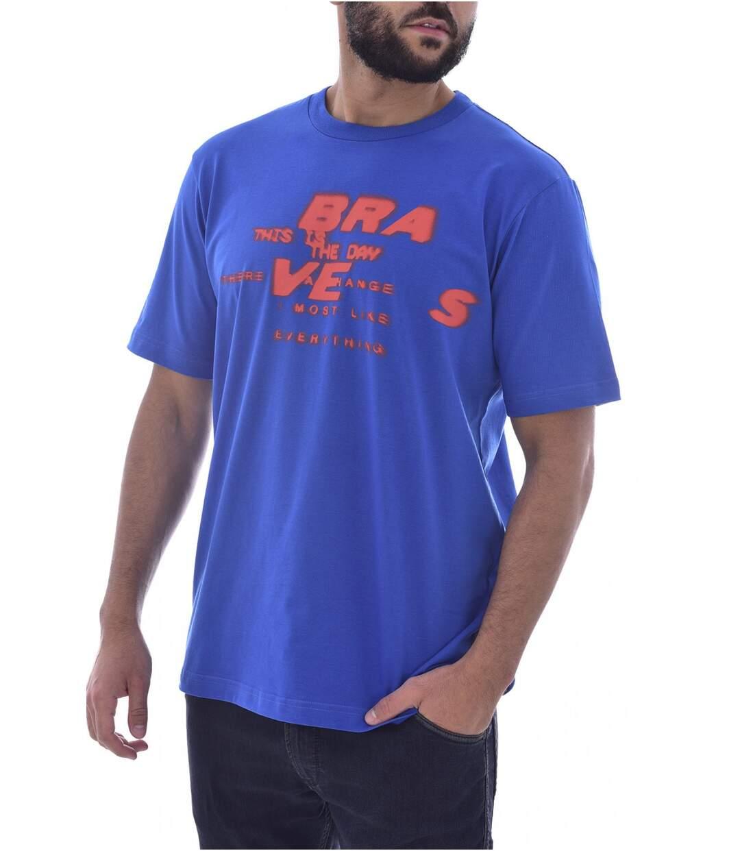 Tee shirt coton imprimé loose   -  Diesel - Homme