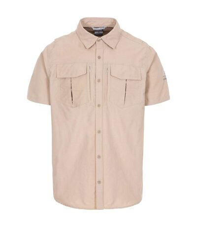 Trespass Mens Baddenotch Travel Shirt (Beige) - UTTP5058