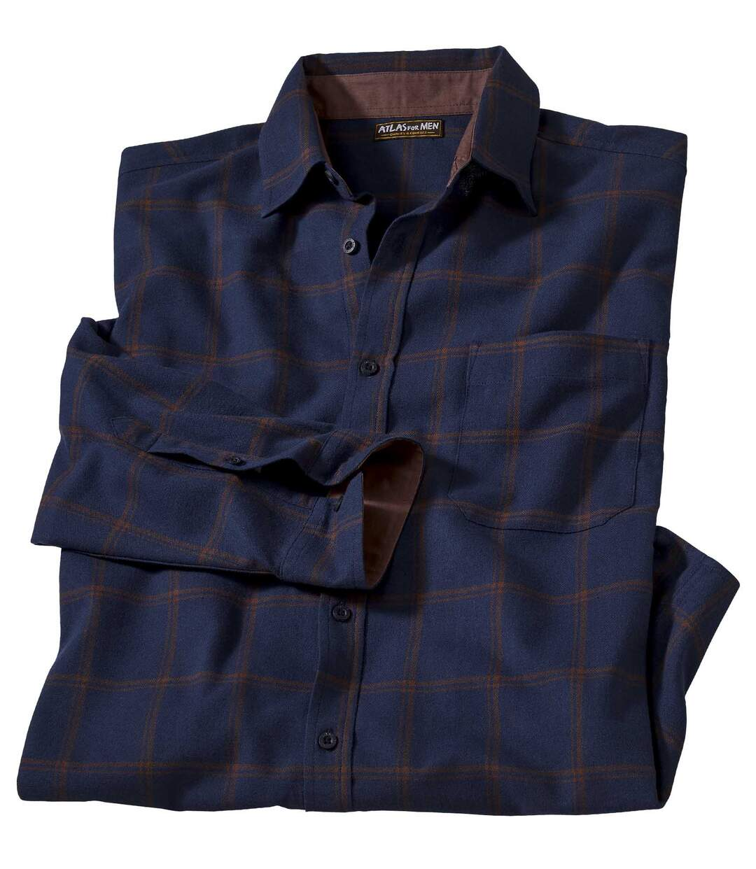 Men's Blue Flannel Checked Shirt