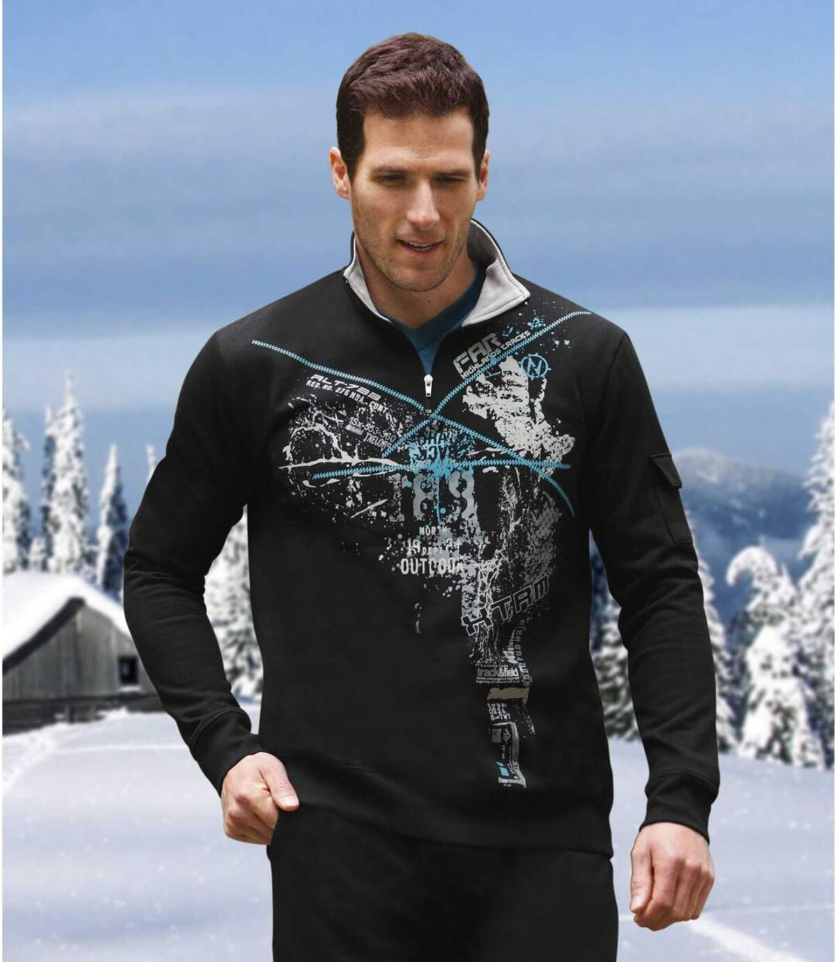 Molton-Sweatshirt Atlas For Men
