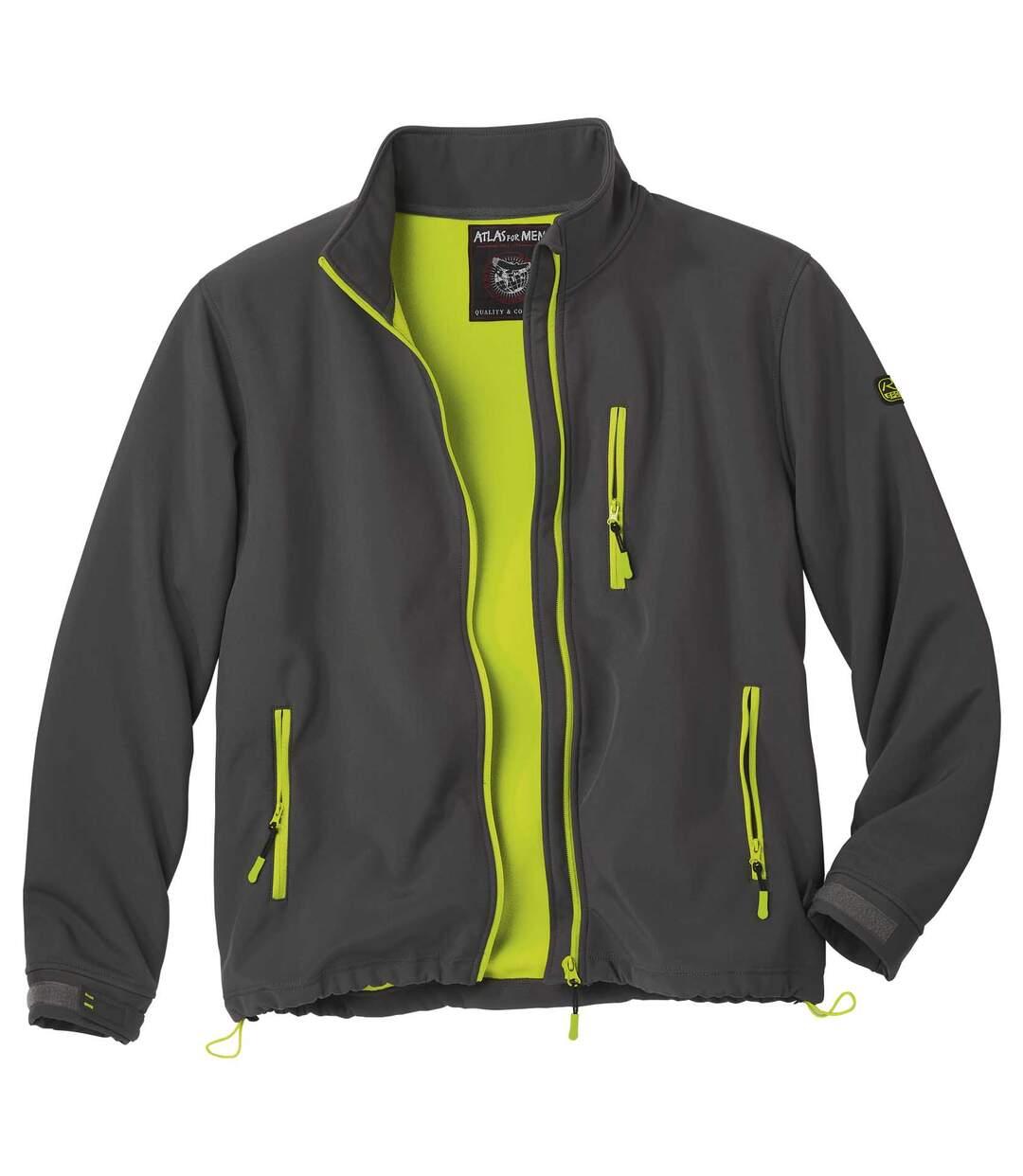 Softshell-Jacke mit Microfleece-Futter