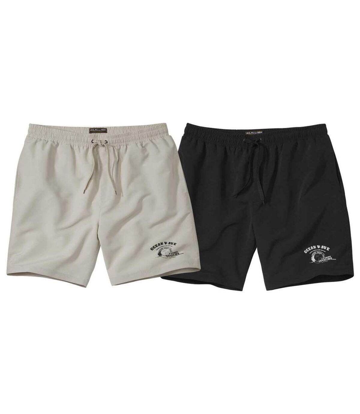 Set van 2 microvezel shorts Ocean Wave Atlas For Men