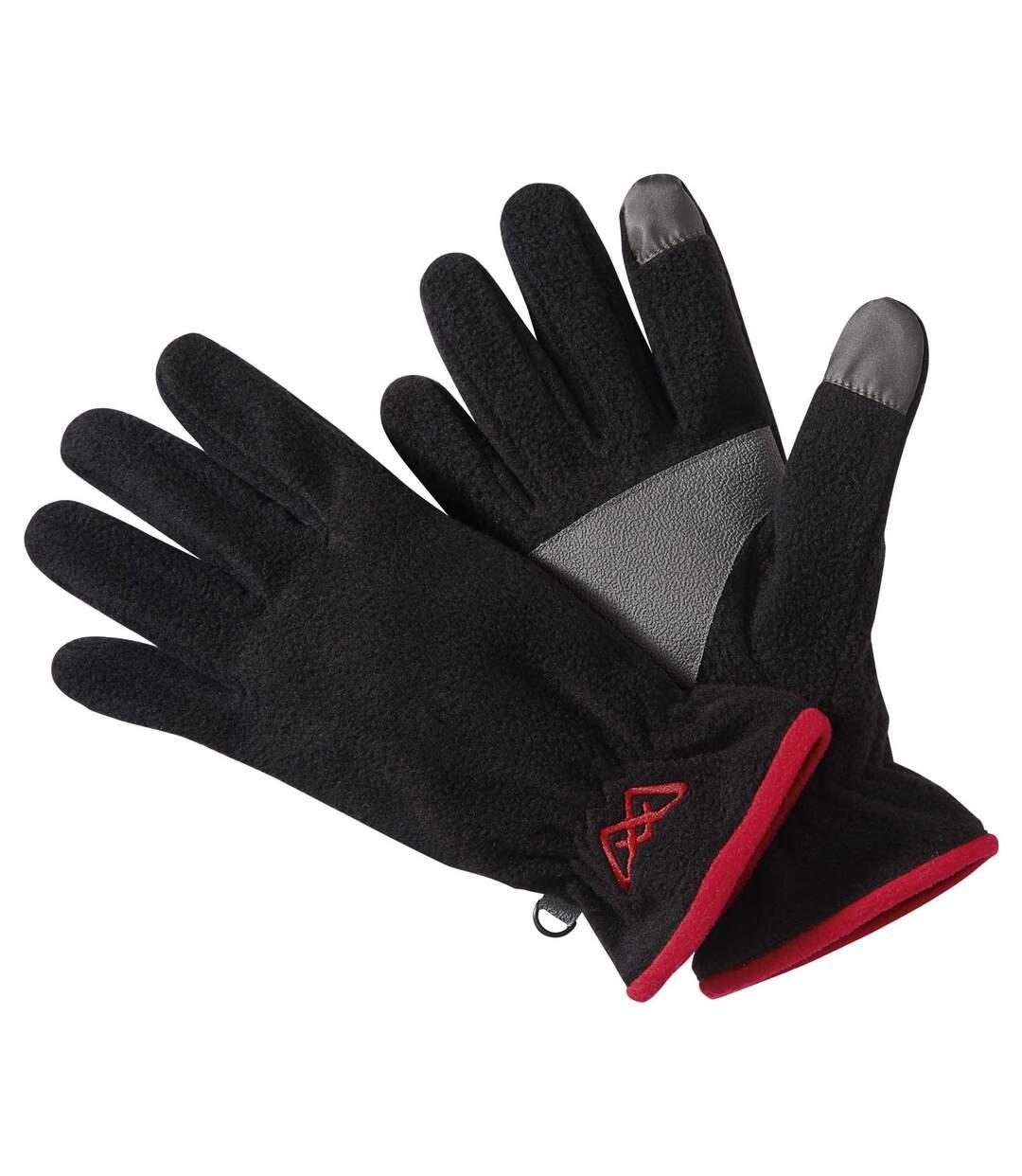 Dotykové flísové rukavice
