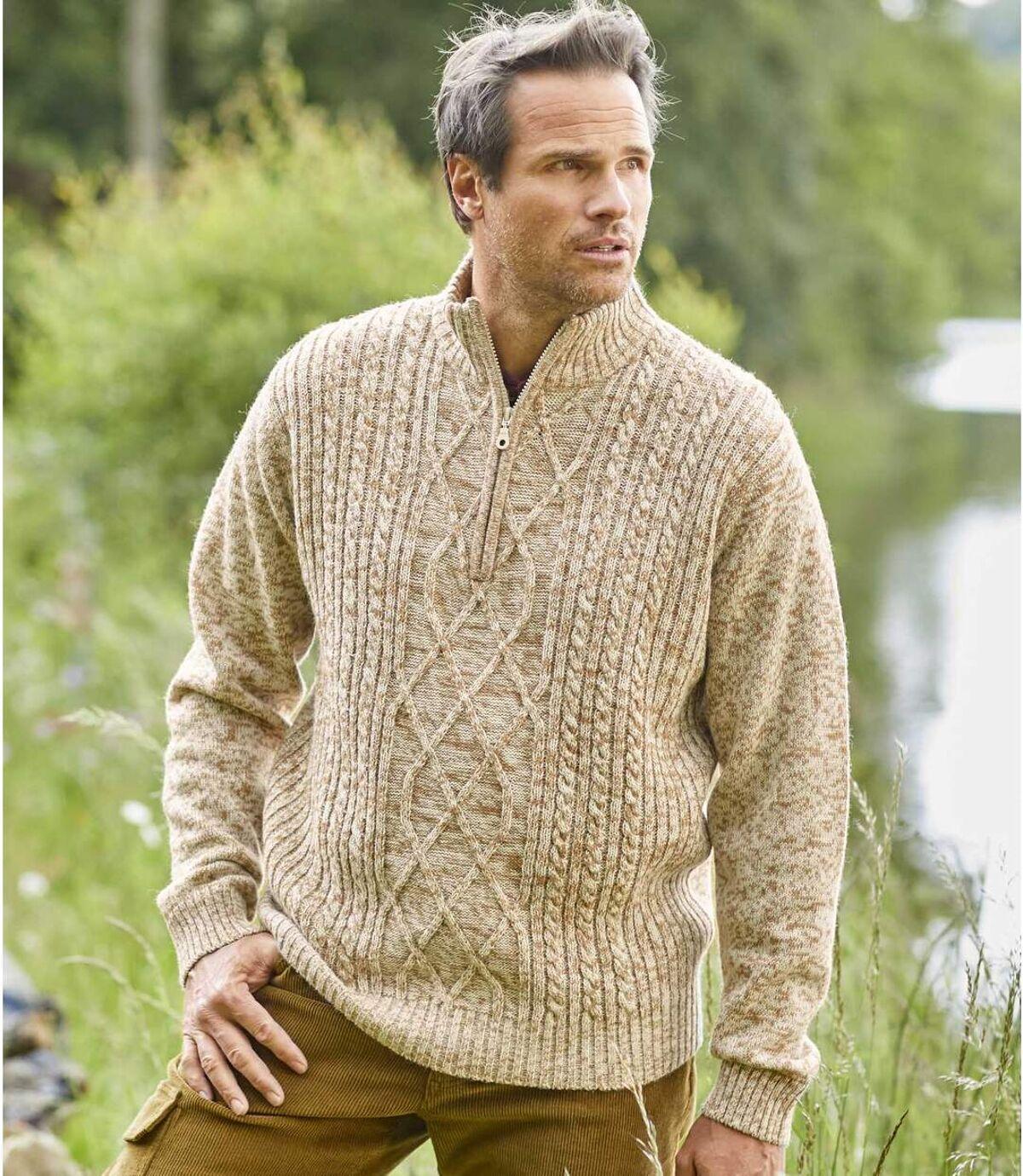 Mountain cipzáras nyakú, kötött pulóver  Atlas For Men