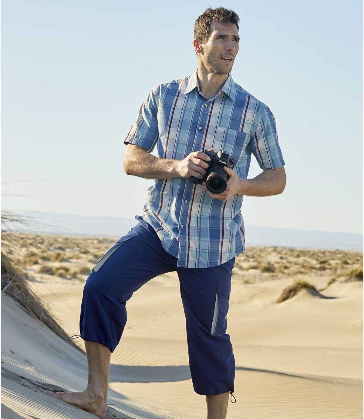 Mikrovláknové trojštvrťové nohavice Cargo Atlas For Men