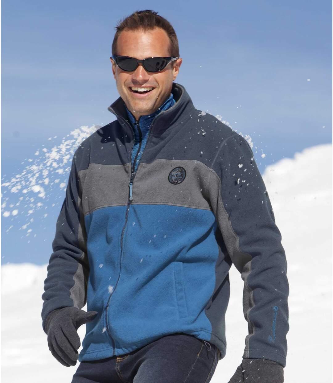 Men's Jasper Polar Fleece Jacket - Grey Blue