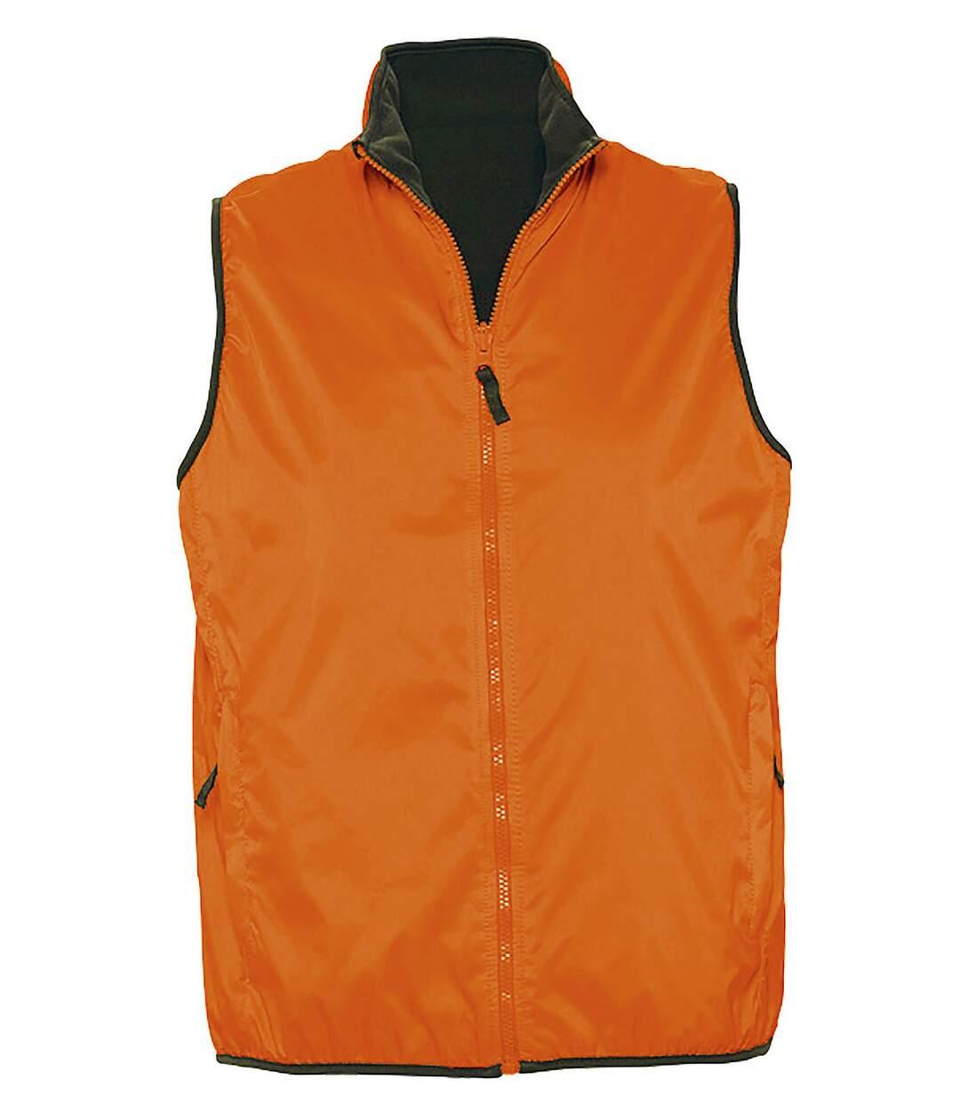 Gilet sans manches réversible imperméable doublé 44001 - orange - unisexe