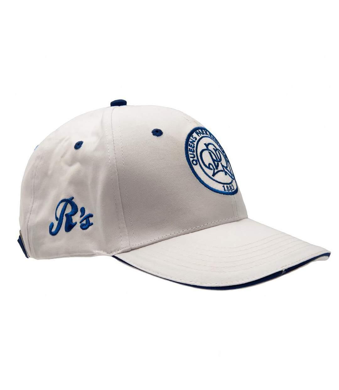 Queens Park Rangers FC Official Crest Design Baseball Cap (White) - UTSG10398