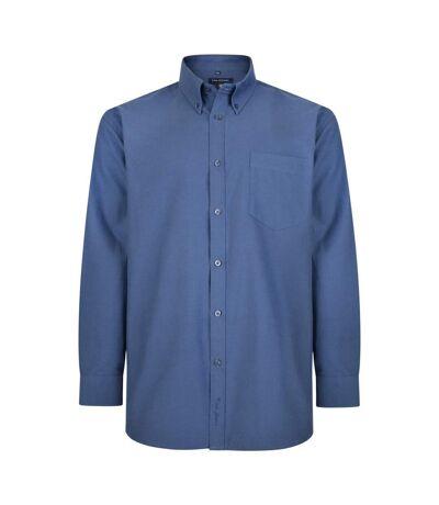 Kam Jeanswear Mens Long Sleeve Oxford Shirt (Navy) - UTKJ115