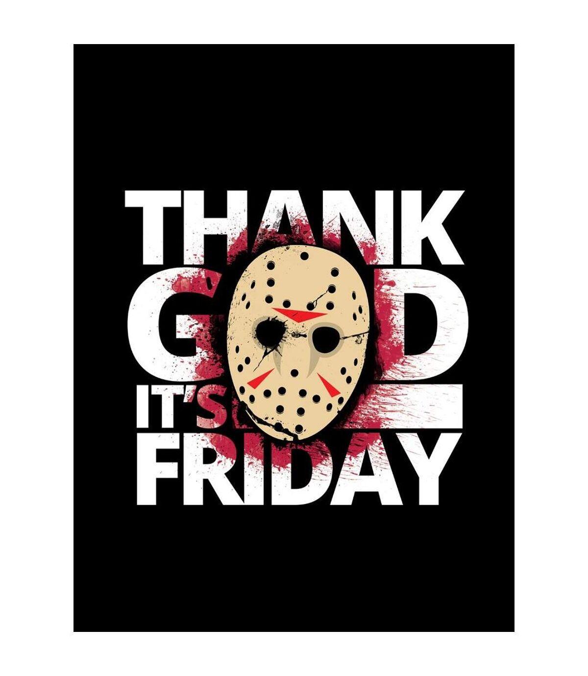 Grindstore Mens Thank God It Is Friday T-Shirt (Black) - UTGR2940