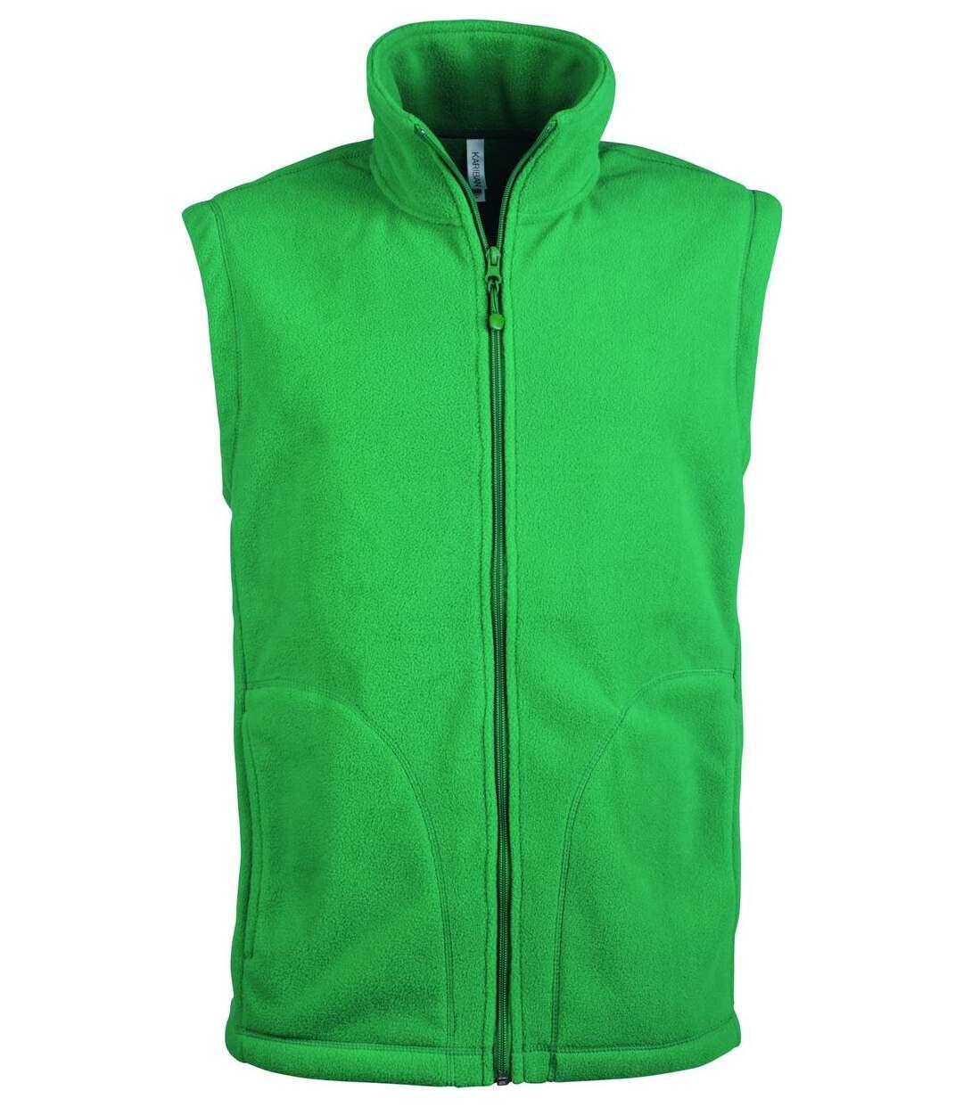Gilet sans manches micro polaire homme - K913 - vert kelly