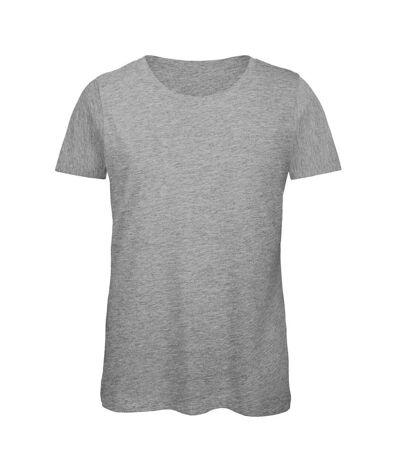 B&C - T-Shirt en coton bio - Femme (Gris sport) - UTBC3641