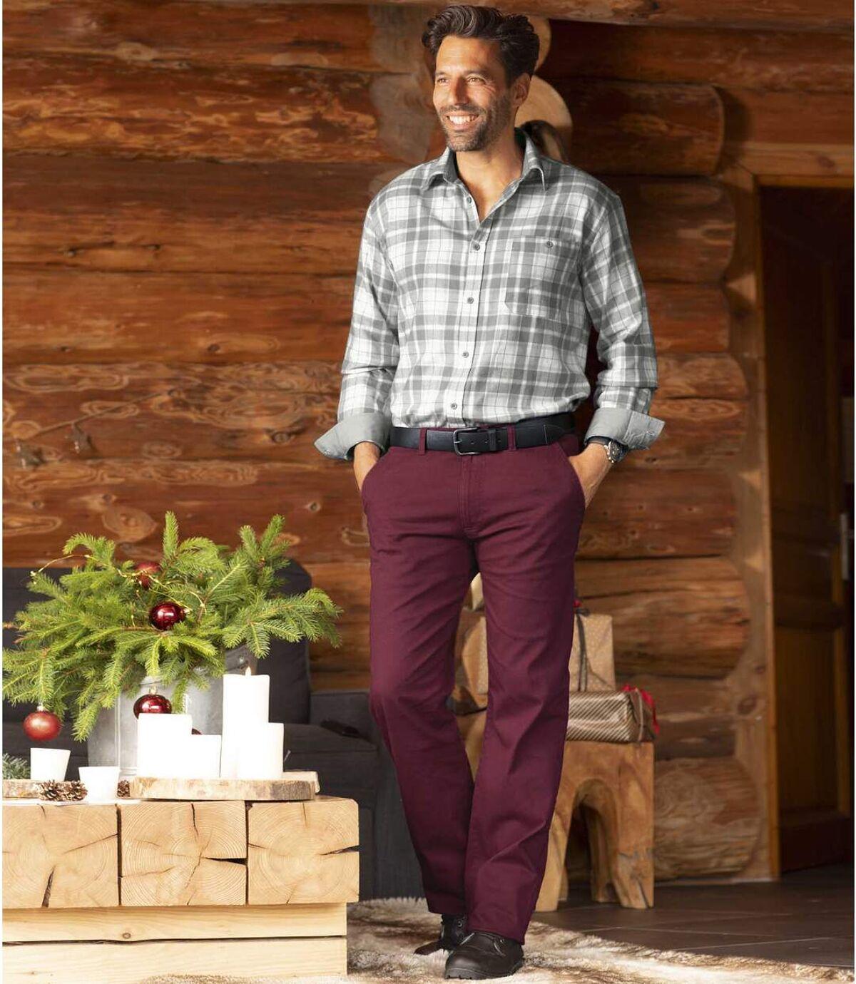 Pantalon Chino Bordeaux  Atlas For Men
