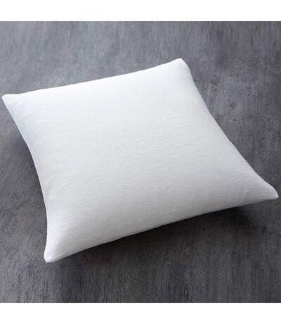 Oreiller moelleux 100% polyester - 60 x 60 cm - Blanc