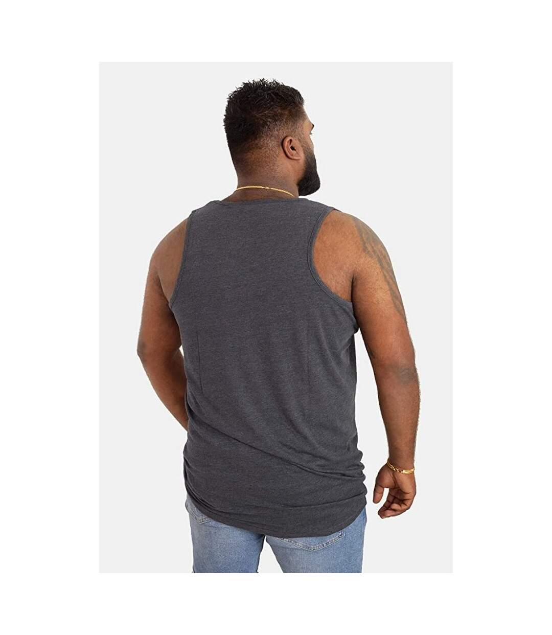 Duke Mens Fabio-1 Kingsize Muscle Vest (Grey Melange) - UTDC171