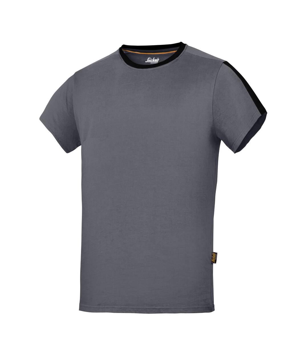 Snickers Mens AllroundWork Short Sleeve T-Shirt (Steel Grey/Black) - UTRW5482