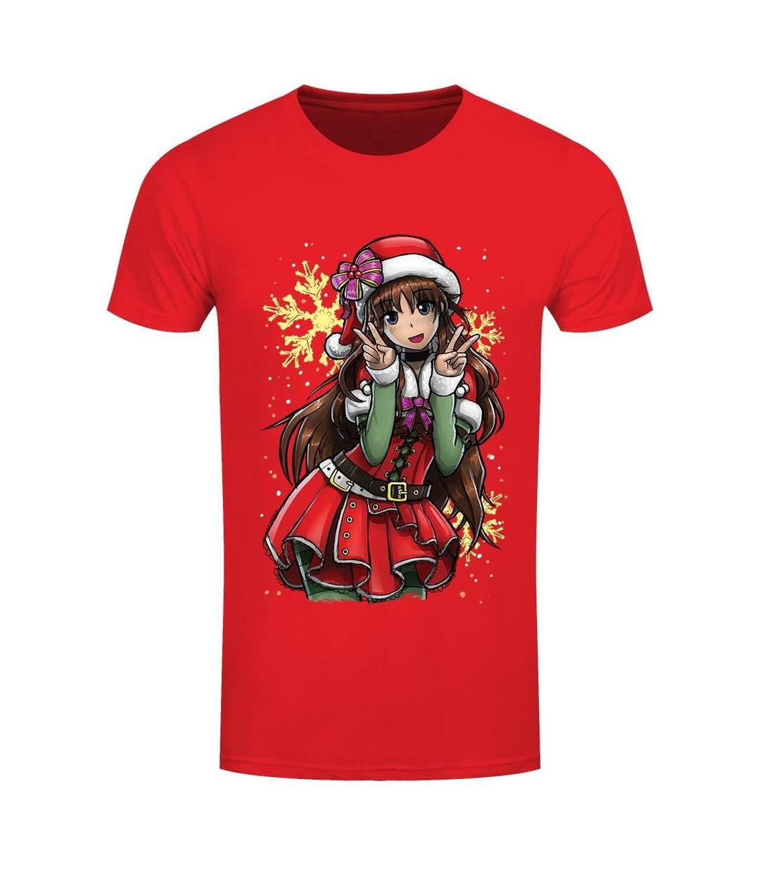 Tokyo Spirit Mens Christmas T-Shirt (Red/Green) - UTGR4183