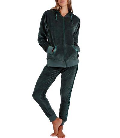 Tenue d'intérieur pyjama velours pantalon veste capuche Sport Home Admas