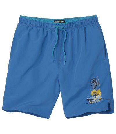 Men's Blue Microfibre Swim Shorts