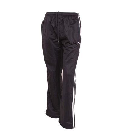 Mens Sportswear Tracksuit/Jogging Bottoms (Open Cuff) (Black) - UTJ132