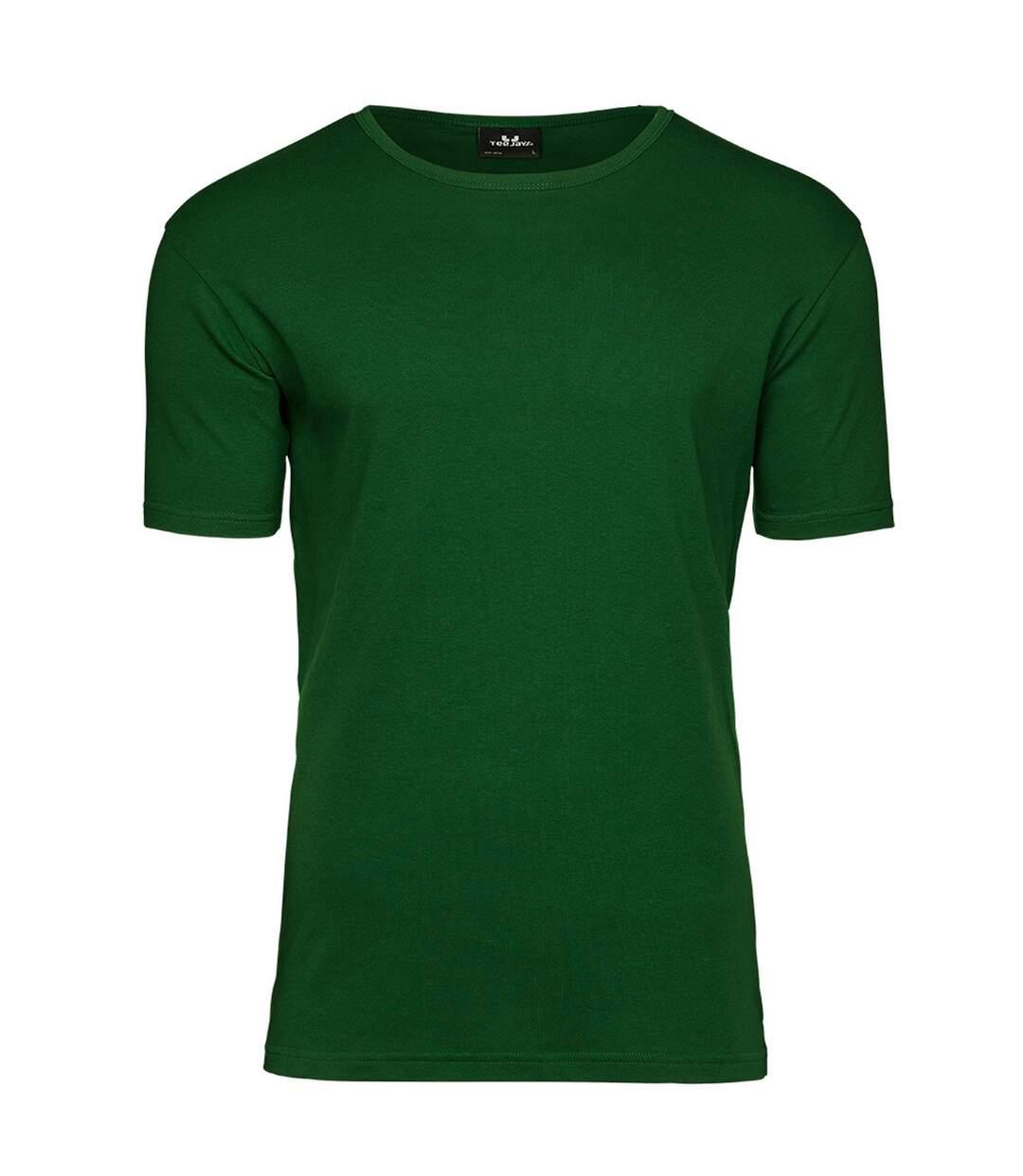Tee Jays Mens Interlock T-Shirt (Forest Green) - UTPC4094