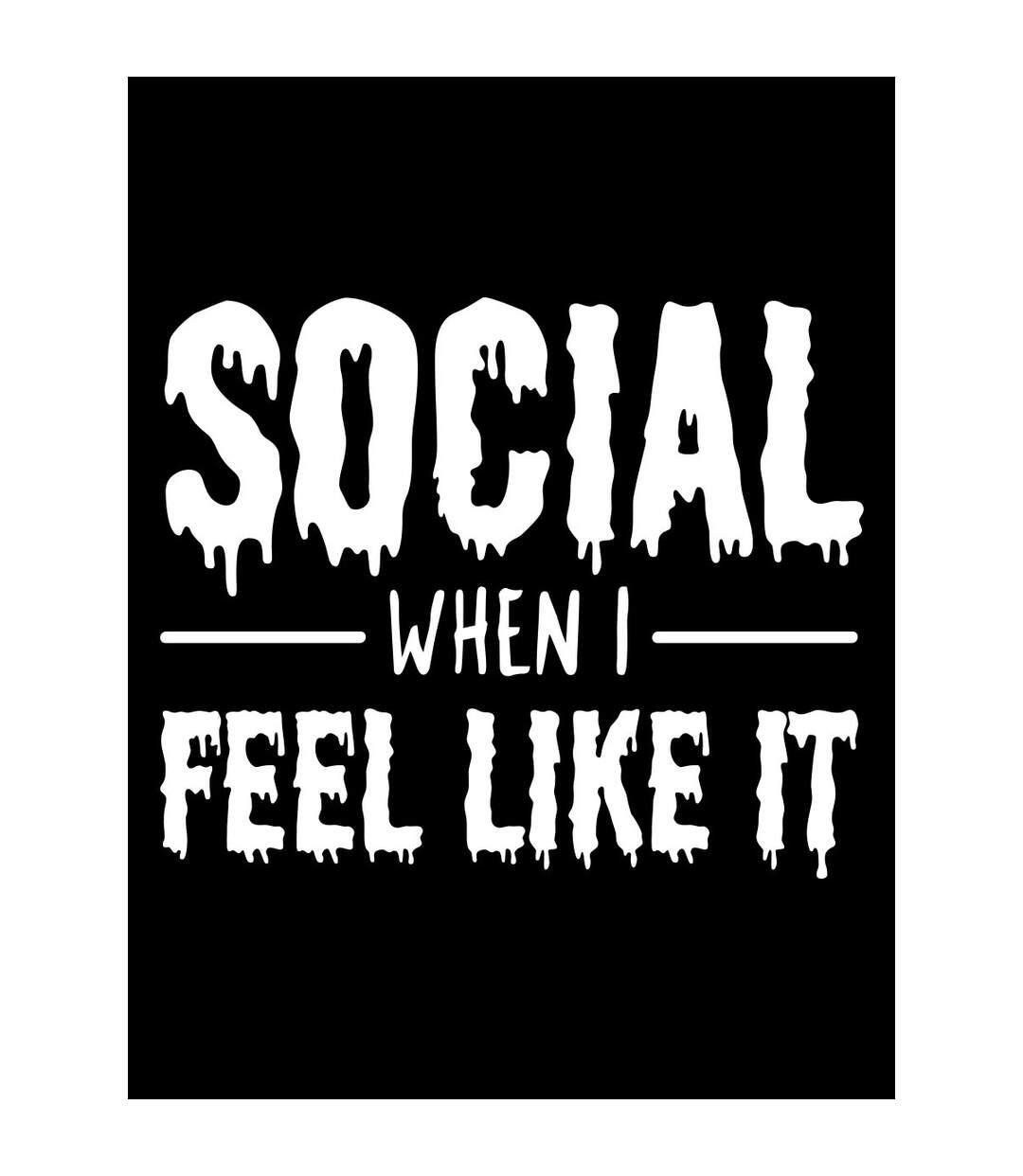 Grindstore Mens Social When I Feel Like It Hoodie (Black) - UTGR3943