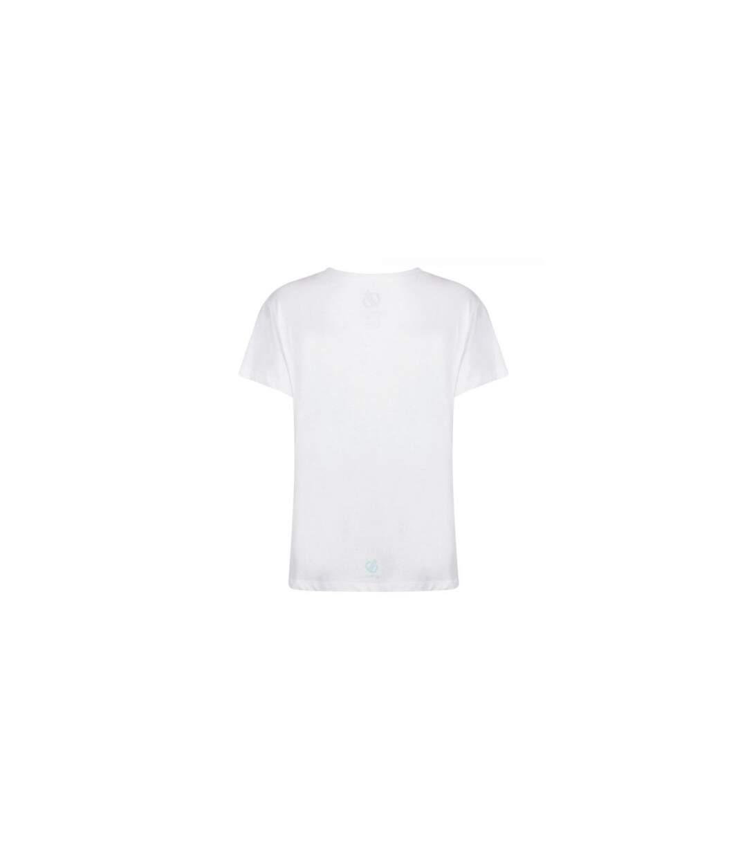 Dare 2B - T-Shirt Imprimé Glow Up - Femme (Blanc) - UTRG4277