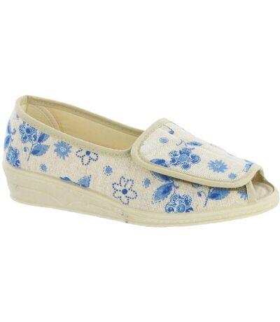 Mirak Quimper Canvas Sandal / Womens Sandals (Floral) - UTFS155