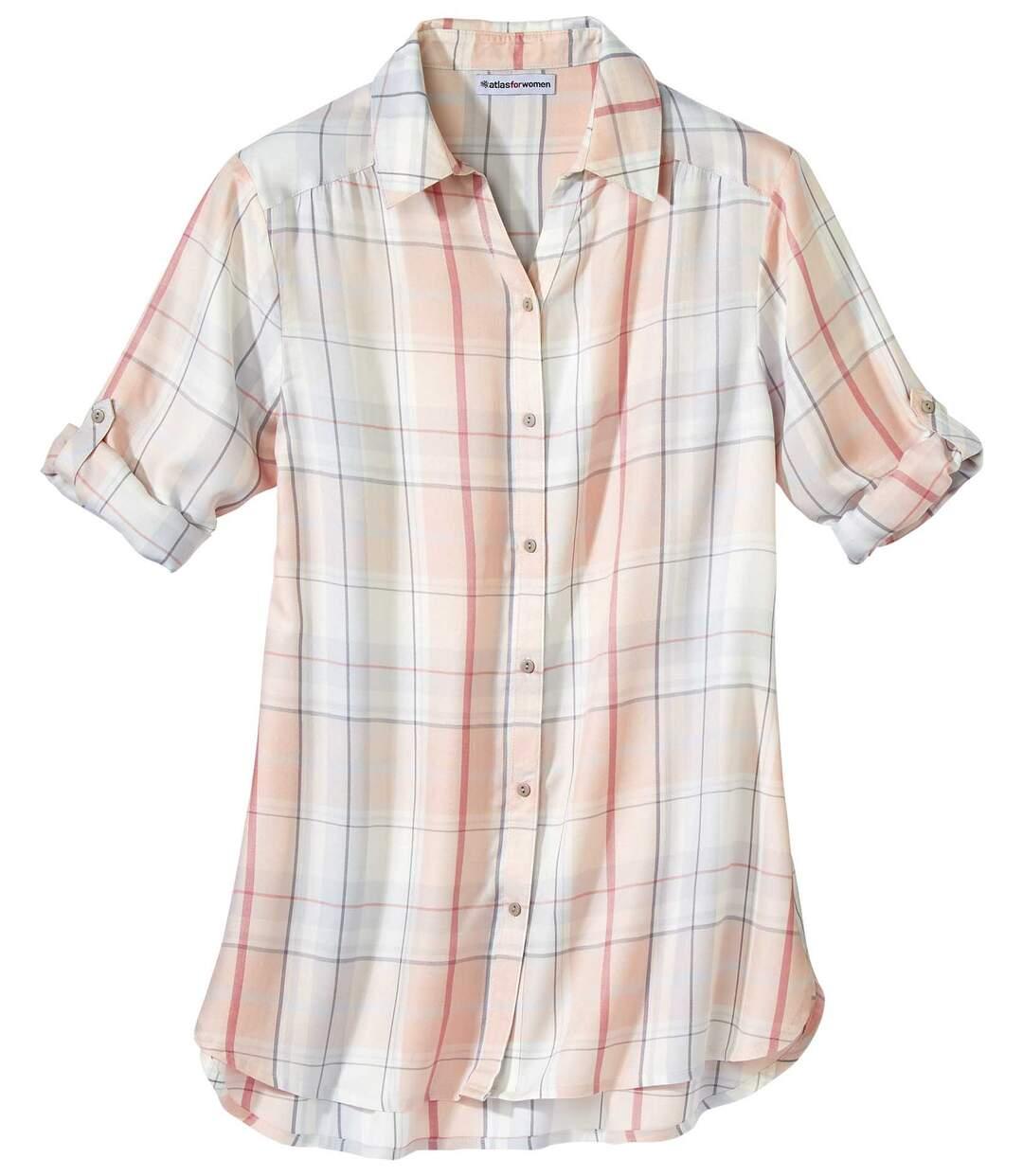 Удлиненная Рубашка в Клетку