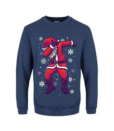 Grindstore Pull de Noël pour hommes Santa Dab (Airforce Blue) - UTGR1922