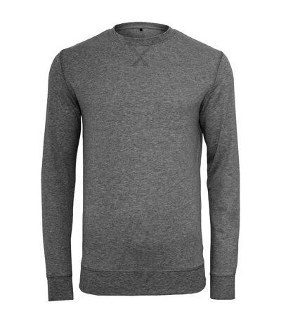 Build Your Brand Mens Plain Light Crewneck Sweater (Charcoal) - UTRW5682