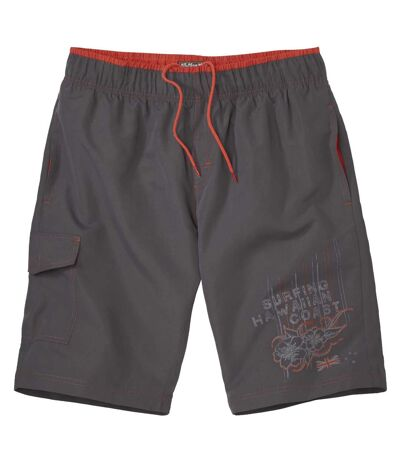 Men's Dark Gray Hawaii Surf Swim Shorts