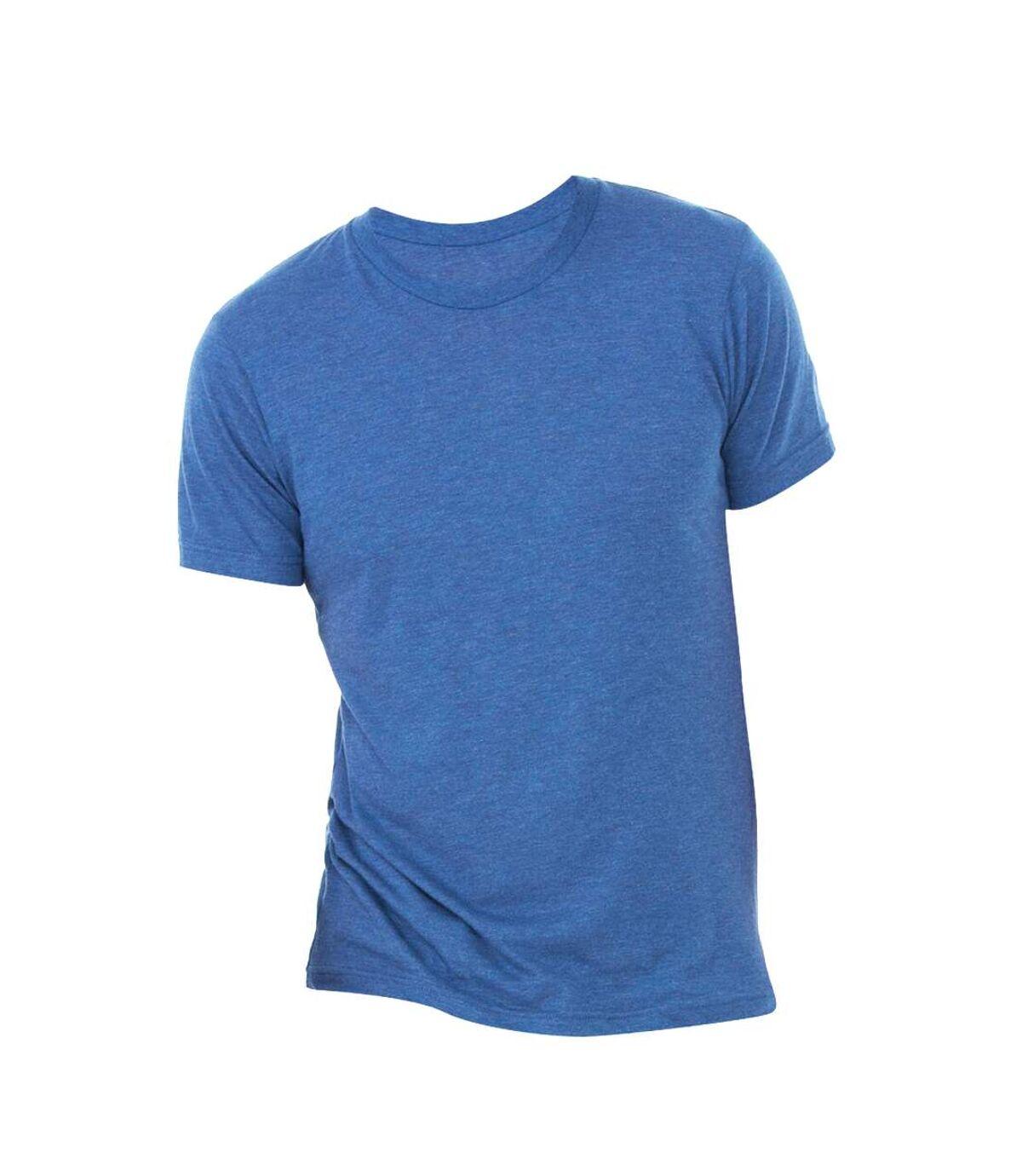 Canvas Mens Triblend Crew Neck Plain Short Sleeve T-Shirt (True Royal Triblend) - UTBC2596