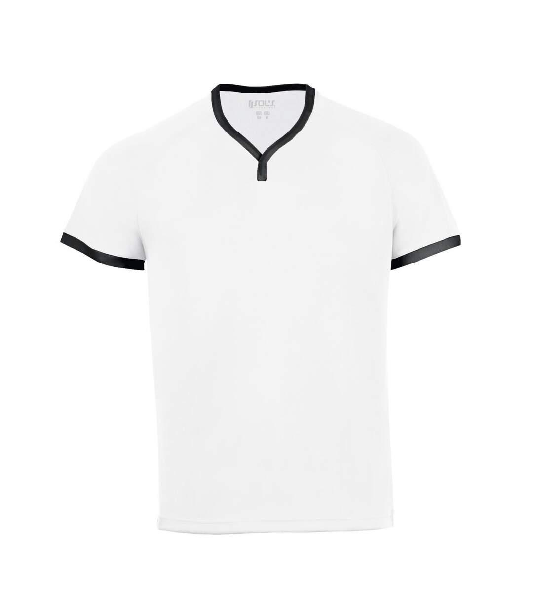 SOLS Atletico - T-shirt à col en V - Homme (Blanc) - UTPC2160
