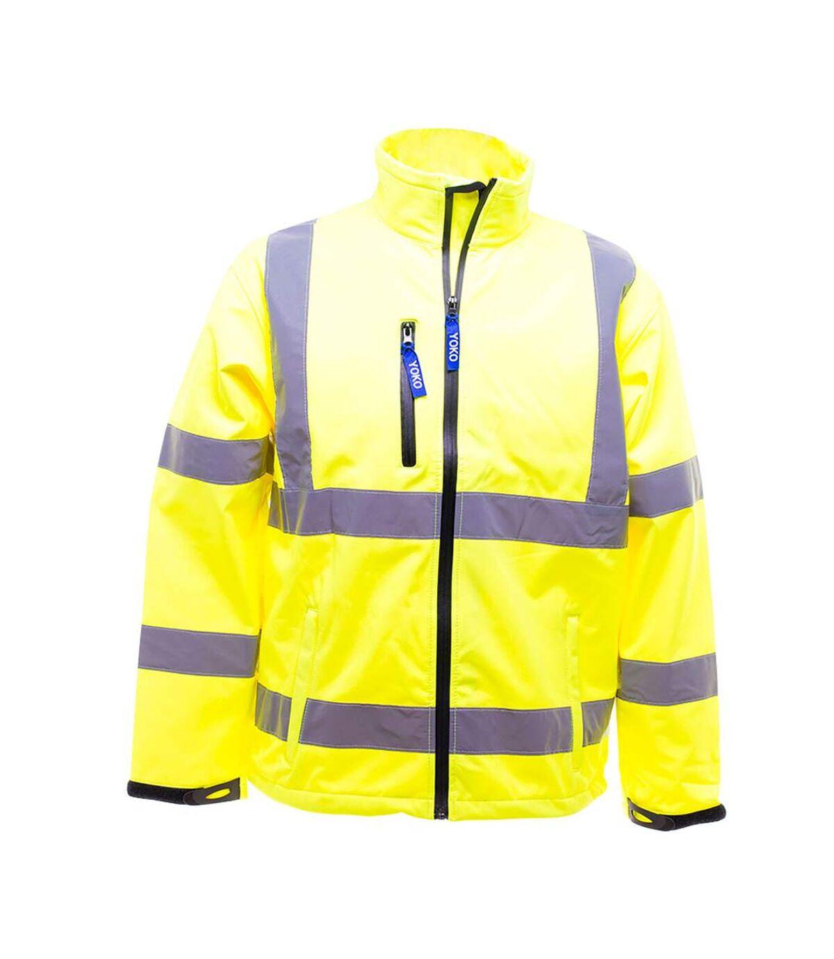 Yoko Mens Hi-Vis Sofshell Jacket (Hi-Vis Yellow) - UTBC1246