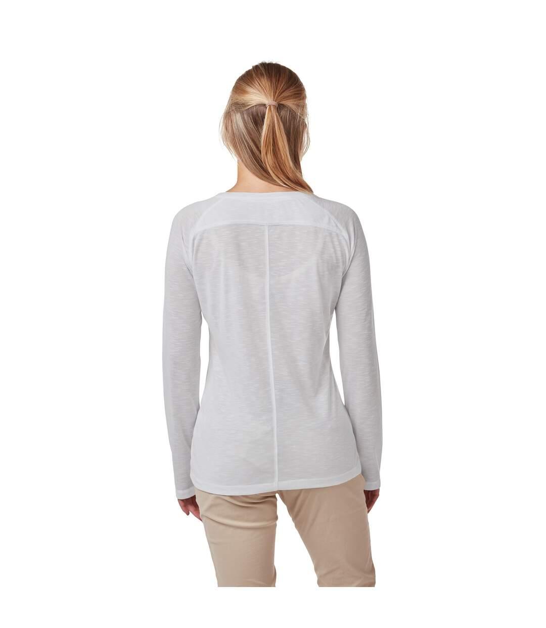 Craghoppers - Haut Manches Longues Kayla - Femme (Blanc) - UTCG1336