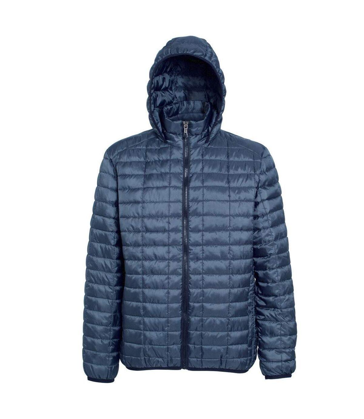 2786 Mens Honeycomb Padded Hooded Jacket (Steel) - UTRW5018