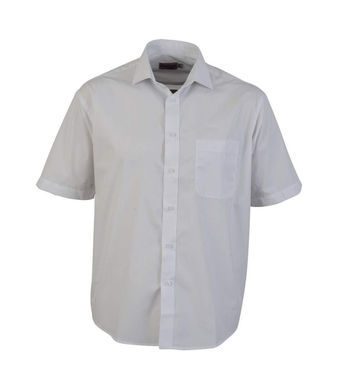 Absolute Apparel Mens Short Sleeved Classic Poplin Shirt (Black) - UTAB118
