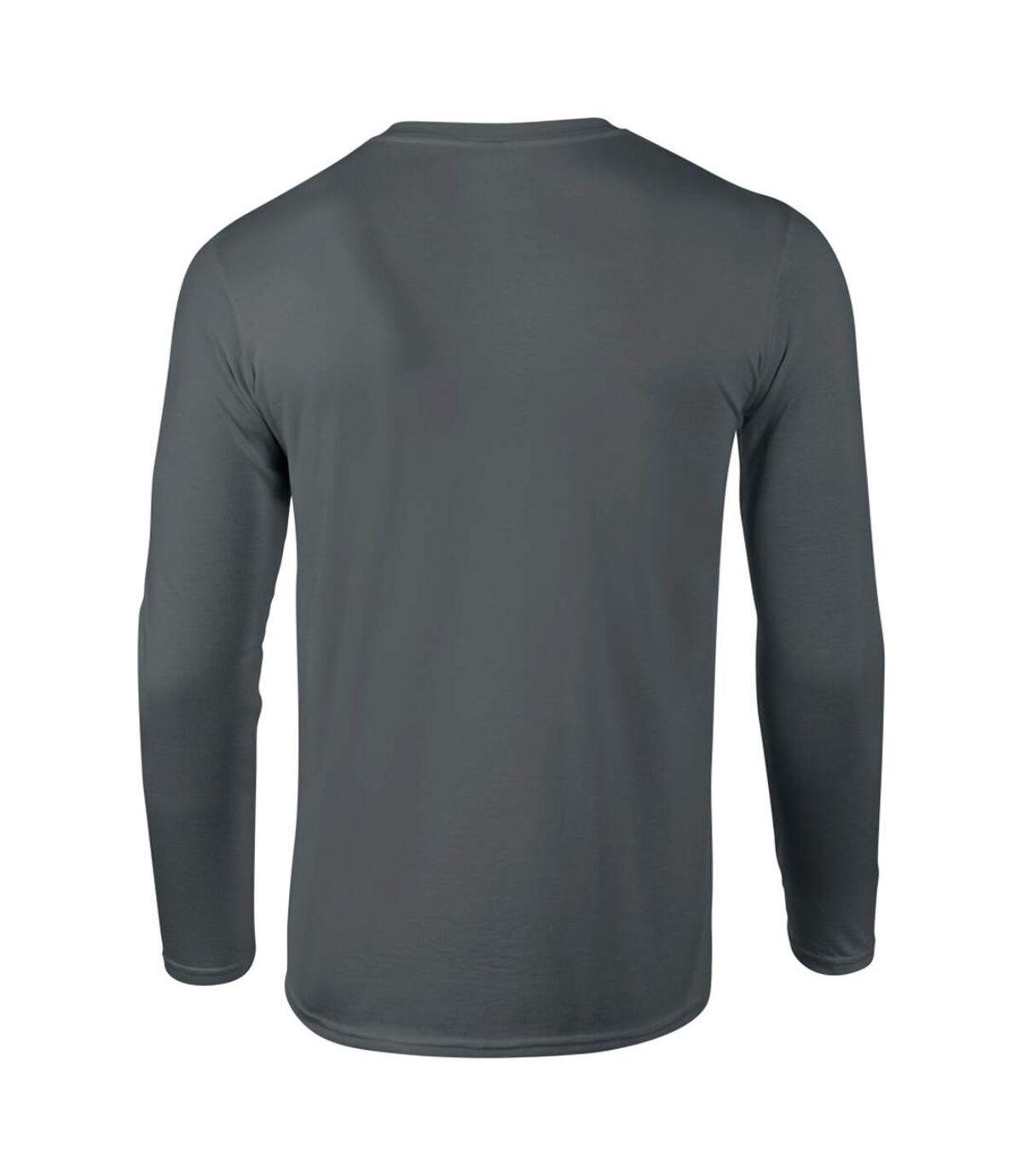 T-shirt à manches longues Gildan pour homme (Gris foncé) - UTBC488