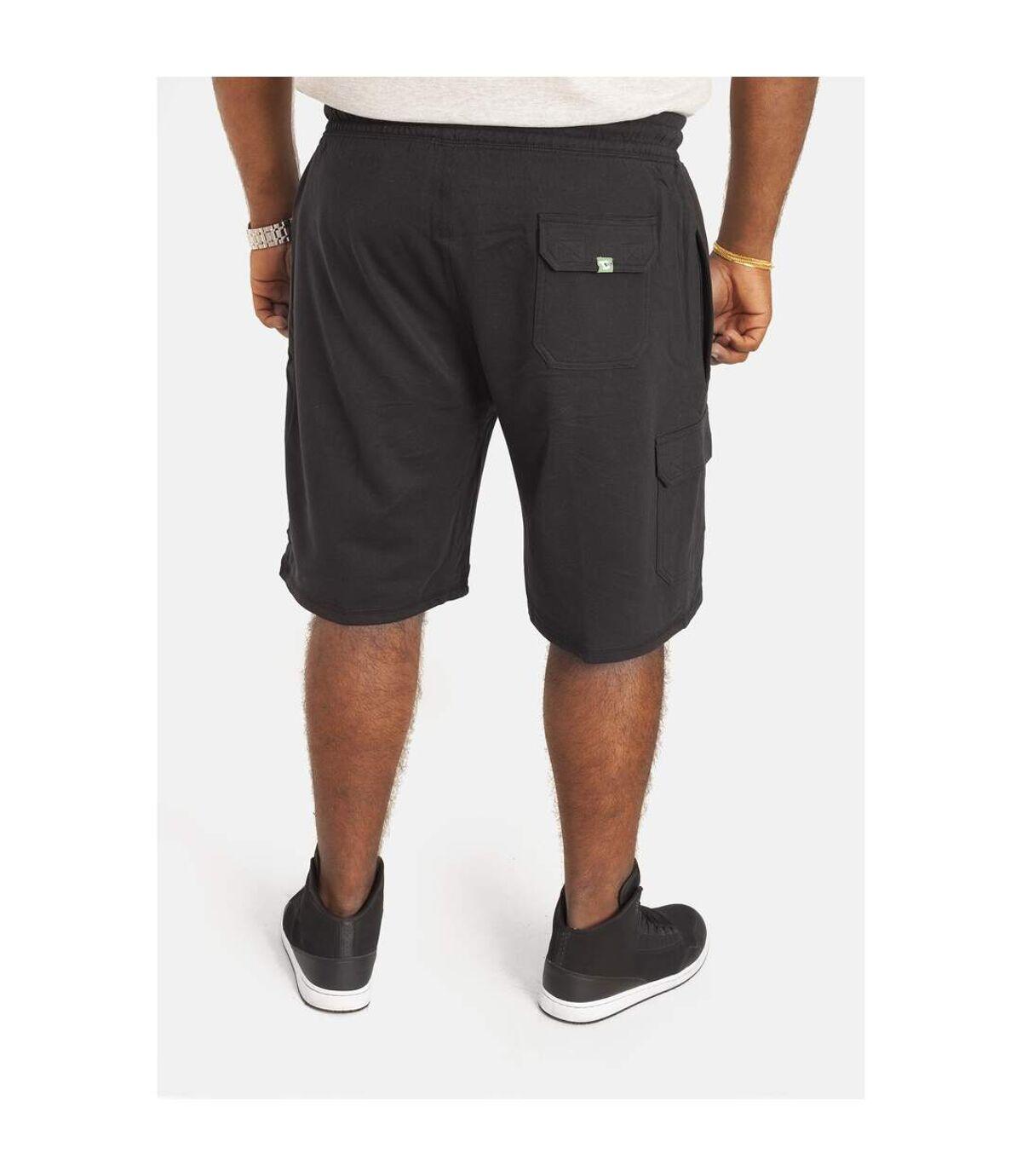 Duke Mens D555 John Kingsize Lightweight Cotton Cargo Shorts (Black) - UTDC146