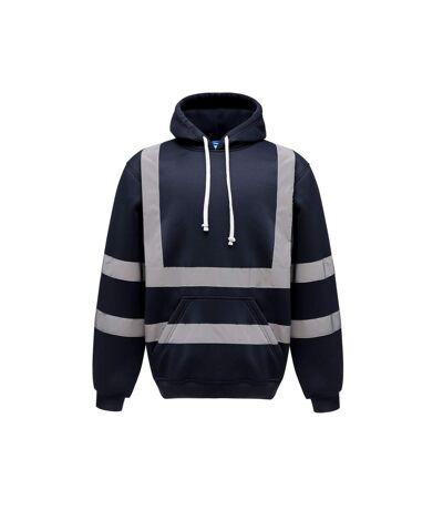 Yoko - Sweatshirt à capuche haute visibilité (Bleu marine) - UTBC3938